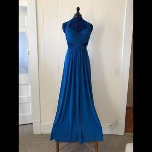 BCBG Backless blue dress 👗